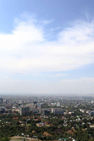 View of Almaty downtown in summer, Southern Kazakhstan photo