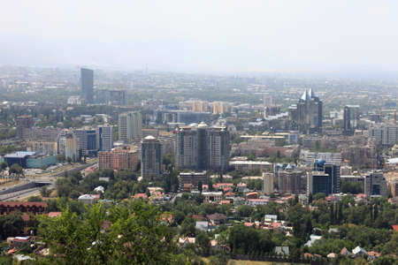 View of Almaty city from above, Kazakhstan