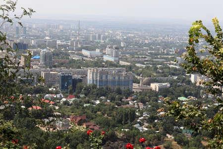 Aerial view of Almaty in summer, Kazakhstan