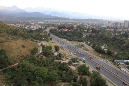The road to Almaty in summer, Kazakhstan