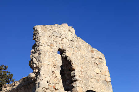 Fragment castle of Monolithos on the sky background, Rhodes, Greece photo