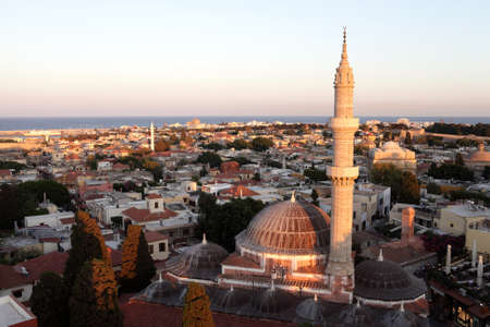 The Mosque of Suleiman remains one of the major landmarks of the city of Rhodes, Greece photo