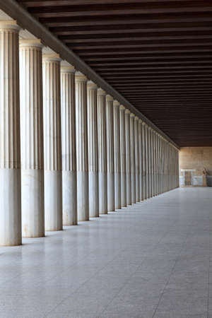 Column arcade of ancient Agora, Athens, Greece