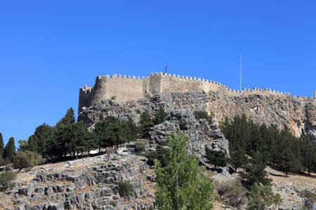 Landscape of Lindos Acropolis on Rhodes island, Greece photo