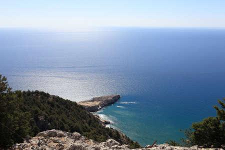 tsampika: Cost of east side Rhodes island, Greece