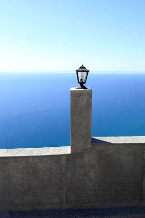 tsampika: lamp and wal of Tsambika monastery on Rhodes island, Greece