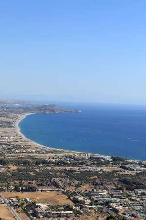 tsampika: Landscape of kolimbia village, Rhodes island, Greece