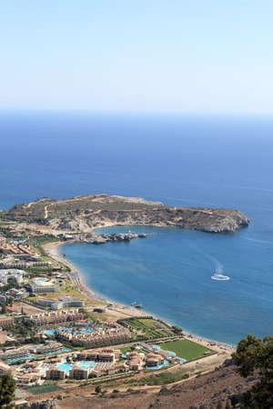 tsampika: View of kolimbia village, Rhodes island, Greece