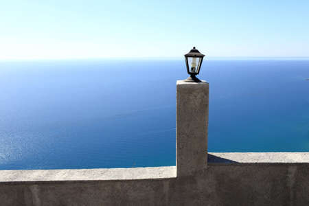 tsampika: Wall of Tsambika monastery on Rhodes island, Greece