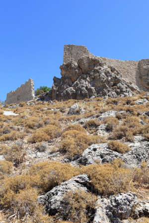 Castle of Saint John in Archangelos village, Rhodes, Greece