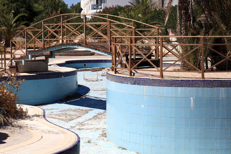 Abandoned swimming pool in a hotel, Rhodes, Greece Stock Photo - 16679877