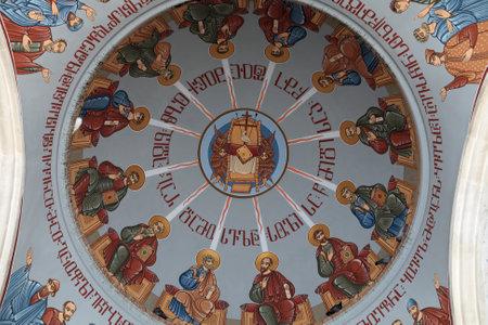 Ceiling of Kashveti Church of St  George in Tbilisi, Georgia Stock Photo - 17679222