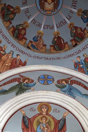 Inside of Kashveti Church of St  George in Tbilisi, Georgia Stock Photo - 17679224