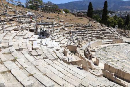 teatro antico: Atene Antico Teatro di Dioniso in estate, Grecia