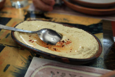 Plate of hummus is in an armenian restaurant Stock Photo - 17972345
