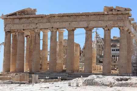 Facade of the Parthenon temple on the Athenian Acropolis, Greece photo