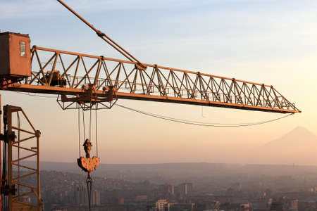Detail of crane in Yerevan city, Armenia