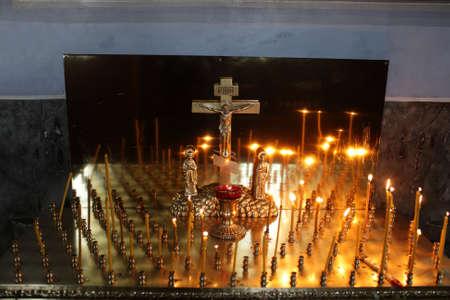 Candles in russian orthodox church, Siberia, Tyumen Stock Photo - 20315614