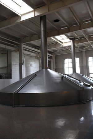 View of fermentation tanks of a modern brewery Stock Photo - 24068934