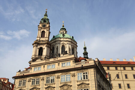 st nicholas cathedral: View of church of St  Nicholas in Prague, Czech republic Stock Photo