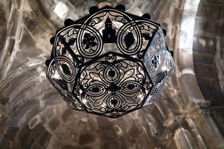 Details of interior Geghard Monastery Ceiling, Armenia