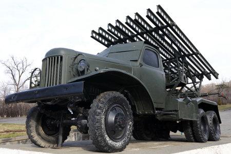 Soviet rocket artillery combat vehicle BM-13, Yerevan, Armenia