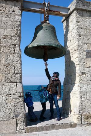 Family and Chersonesus bell, Peninsula Crimea, Sevastopol