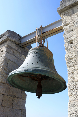 Details of Chersonesus bell on sky background Фото со стока