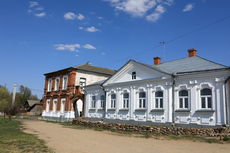 Street view in town of Kalyazin, Russia