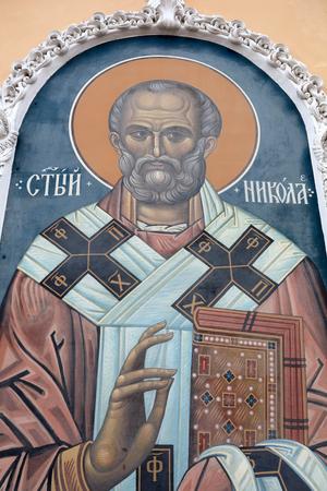 Saint Nicholas Icon in russian orthodox church