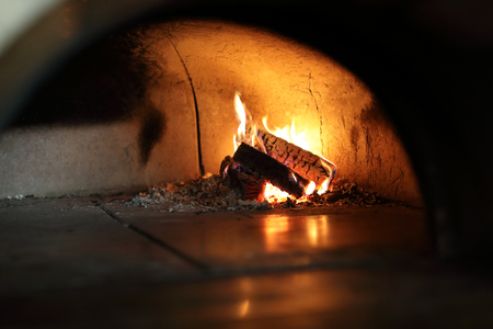 Wood oven for baking in a restaurant