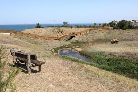 Landscape of village on coast of the Black sea Reklamní fotografie