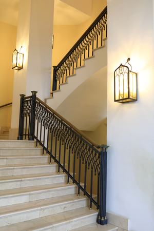 Details of Palace Staircase Interior in evening Stock Photo