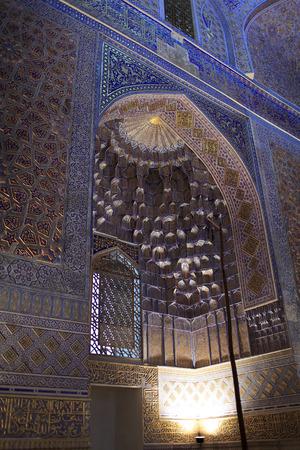 View of Guri Amir interior. It is mausoleum of the Asian conqueror Tamerlane in Samarkand, Uzbekistan