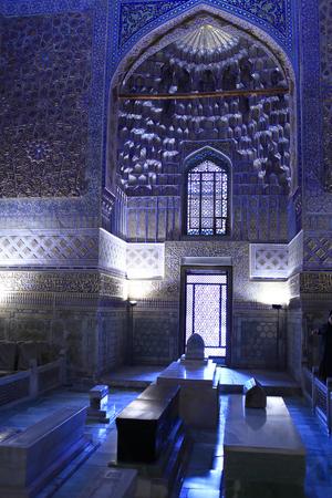 Interior of Guri Amir. It is mausoleum of Asian conqueror Tamerlane in Samarkand, Uzbekistan