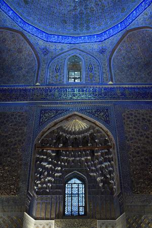 View of Guri Amir interior. It is mausoleum of Asian conqueror Tamerlane in Samarkand, Uzbekistan