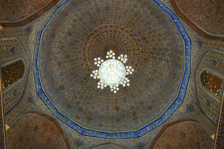 Dome of Guri Amir. It is a mausoleum of the Asian conqueror Tamerlane in Samarkand, Uzbekistan