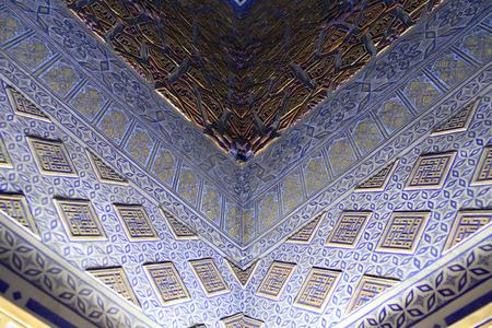 Part of wall Guri Amir. It is mausoleum of the Asian conqueror Tamerlane in Samarkand, Uzbekistan