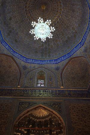 Cupola of Guri Amir. It is a mausoleum of the Asian conqueror Tamerlane in Samarkand, Uzbekistan