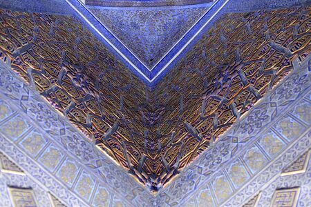 Part of wall in Guri Amir. It is a mausoleum of the Asian conqueror Tamerlane in Samarkand, Uzbekistan