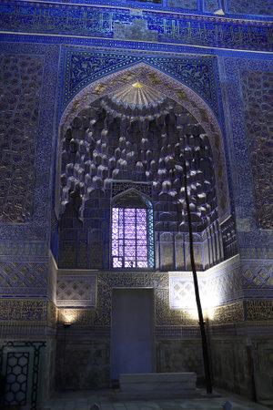 Interior of Guri Amir. It is a mausoleum of the Asian conqueror Tamerlane in Samarkand, Uzbekistan