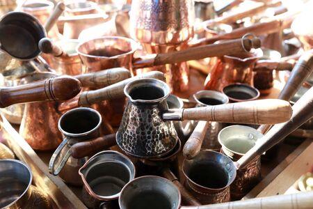 Coffee Turks in swap meet, Tbilisi, Georgia