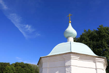 Dome of chapel in Valaam monastery, Russia