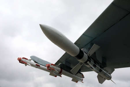 Missiles of fourth-generation supersonic fighter Flanker-B, Russia Standard-Bild