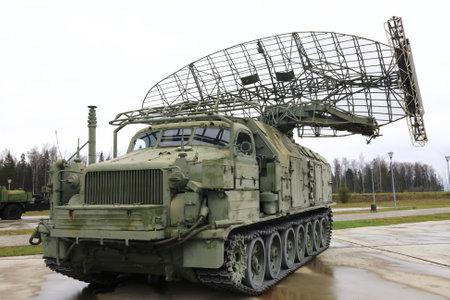 View of military radar station Long Track P-40, Russia Foto de archivo