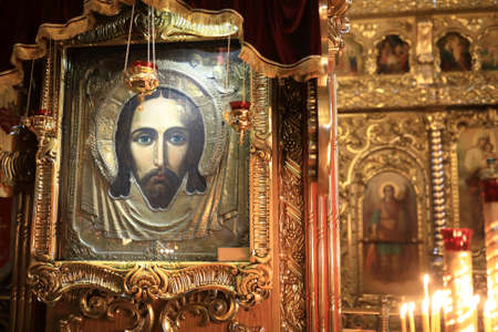 Icon of Savior made without hand in orthodox church of Raifa monastery