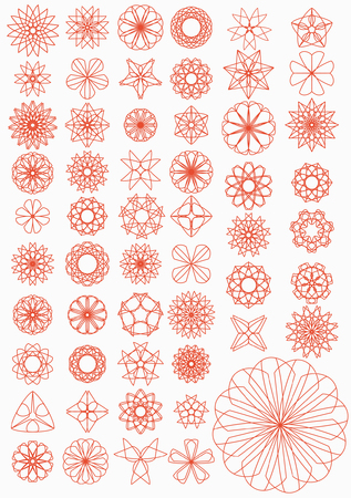 coverlet: Set of patterns for an embroidery (patchwork).