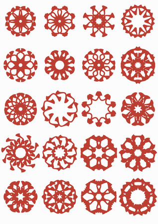 coverlet: Original pattern.Set flowers for the aid to the designer.  Illustration
