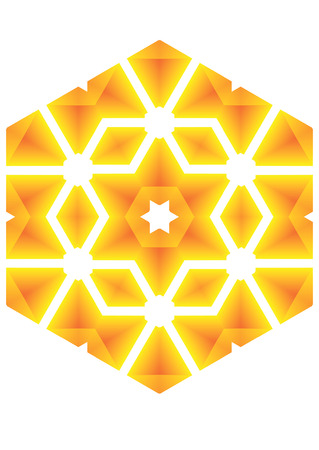 The heated, hot star, radiate light of the heated metal. Stock Vector - 3305207