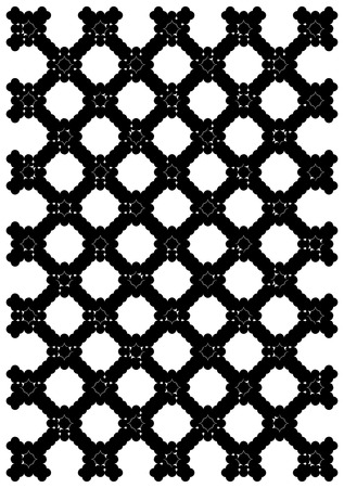 olden: Metal black lattice in an ancient palace. Illustration